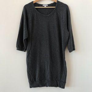 James Perse charcoal sweatshirt dress